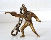 1995 Luke Skywalker Star Wars Action Figure Key Chain LFL Placo Products