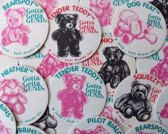 1993 Gotta Getta Gund Pog By Soft Goods Inc. Set of Twenty-Four (24) Pogs