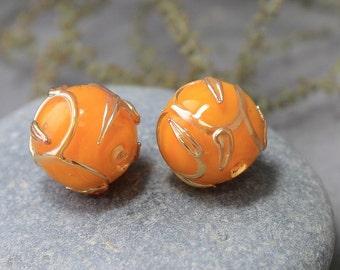 Handmade Lampwork Beads - Set of 2 Glass Beads, Lampwork Beads, Lampwork Glass Beads, Lampwork, Handmade Beads