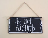 do not disturb sign, baby shower, office sign, privacy door sign, nursery decor, handlettered wood sign