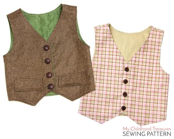 Vest Pattern, Boys VEST pattern, Toddler Vest Pattern