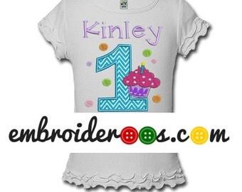 Cupcake Dots! Birthday Shirt or Onesie