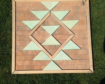 Southwestern Wooden Triangle Wall Art - Home Decor - Wall Hanging
