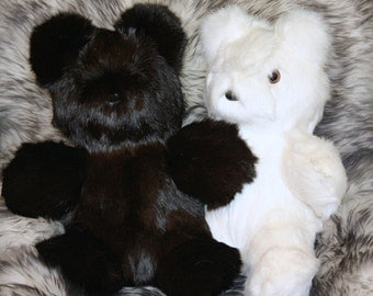 Glacier Wear Rabbit Fur Teddy Bears