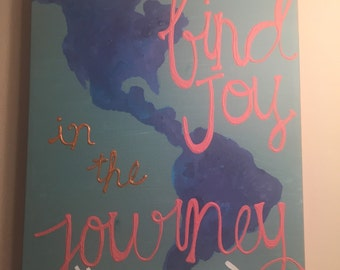 Find Joy In The Journey Quote Canvas