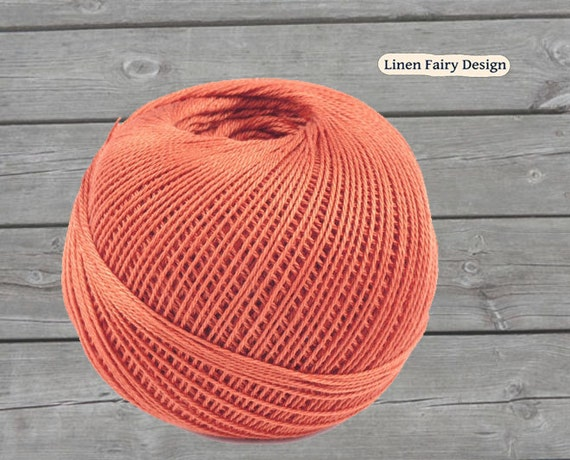 Crochet Cotton Yarn Salmon 50g X 200 M 3 Ply Cotton Thread