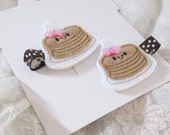 Happy Pancake Pigtail  Hair Clips