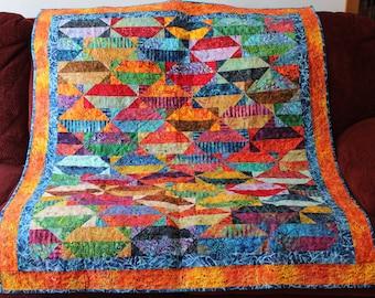 Walking On Broken Glass -- Batik Quilt