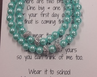Mother/Daughter First Day of School Bracelets