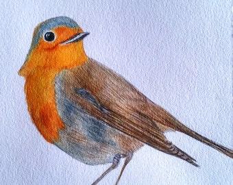 Original Watercolor Painting  - BIRDIE - Print Available