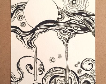 Sense (Original Ink Drawing)