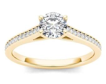 14Kt Yellow Gold Diamond 0.50 Ct Engagement Ring