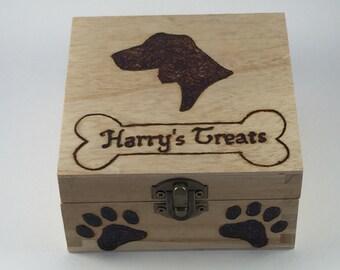 Wooden Pet Treat Box