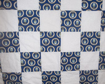 United States Air Force Quilt Throw Lap Blanket