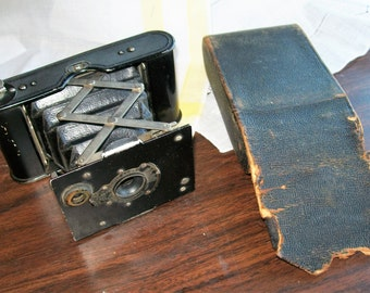 antique kodak vest pocket autographic camera with case dated 1913