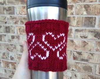 Valentine's Day Hearts Abound Coffee Cozy