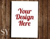 Custom Christmas Card Design, Holiday Greeting Card