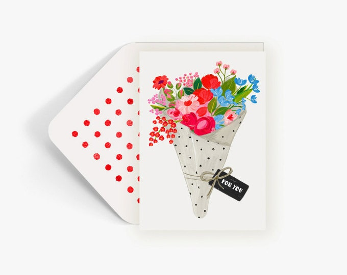 For You...Freshly wrapped bright floral bouquet