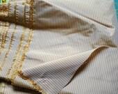 Silk Taffeta  - Striped Silk Taffeta 100% 55 Wide