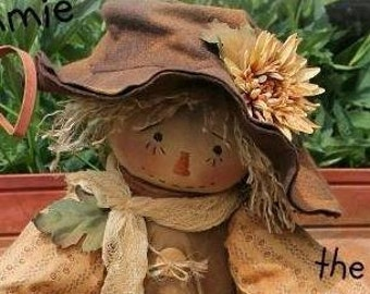 Primitive Scarecrow Pattern Sammie the Prim Claypot Scarecrow Instant Download
