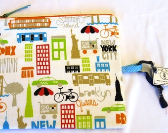 NYC Zipper Bag /  Travel Bag /  Great Gift for Him or Her / Father's Day and Mothers Day- 004