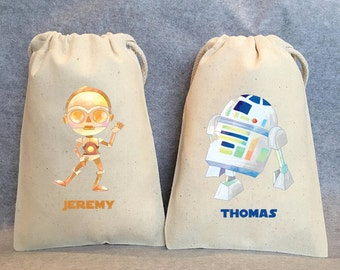 """8 Star Wars Party, Star Wars party Favor Bags,Star Wars favors, 5""""x8"""""""