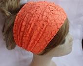 Yoga Headband Lace Turband Headband Stretchy Turban Wide Hippie Boho Headband Hair Bands Chic Yoga Headband Hair Wrap