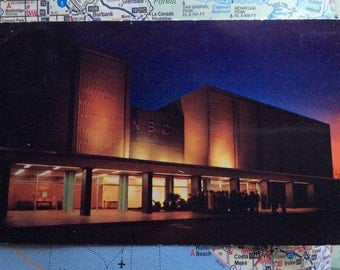 NBC Color Television Studios postcard, postmarked 1955