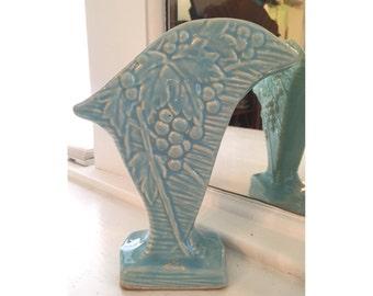 Vintage McCoy Art Pottery Light Blue Vase