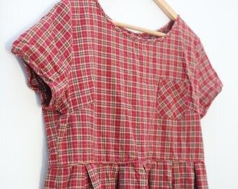 Plaid vintage schoolgirl dress