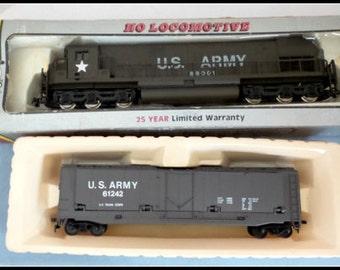 Vintage Set of Four A.H.M. U.S. Army HO Trains