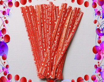 25 Red Twist Ties ( 4 inches ) .. Twist Ties, Red Twist Ties, Paper Twist Ties, Gift Twist Ties, Packaging Twist Ties