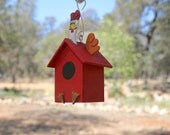 Farm Animal Chicken Bird House Christmas Ornament