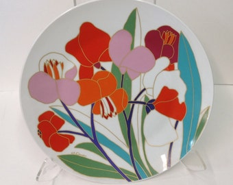 """Stunning Wolgang Bauer decorative 13"""" plate for Rosenthal"""