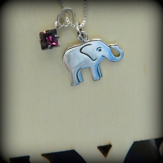 Sterling silver elephant necklace, yoga jewelry,healing necklace, longevity, good luck necklace