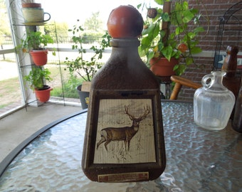 Vintage Whiskey Decanter, Beams Choice James Lockhart Cottontail Deer