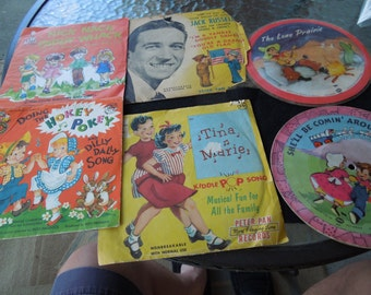 Vintage Records, Childrens, 45rpm-78rpm, 1949 and Later, Lot of 6, Will Separate