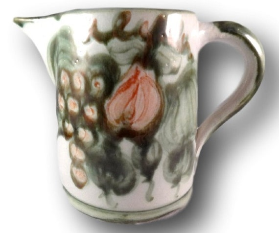 Vintage Louisville Pottery Harvest Pattern John B Taylor Stoneware Pitcher