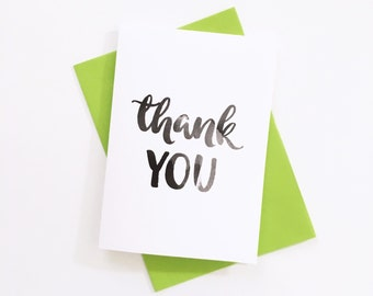 Thank You Card, Watercolour Cards