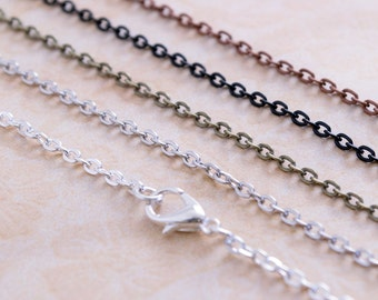 5- 18 inch Chains - Petite Oval Link Cable Chains - 18inch Chain - Oval Link Chains - Charm Chain - Pendant Chain - Findings Chain