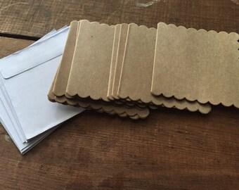 Studio Paper craft cards & envelopes 10pcs