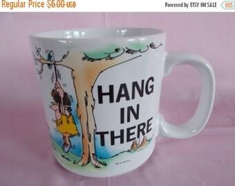 sale Vintage Russ Berrie Hang In There Mug
