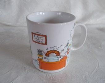 Vintage Hallmark Office  Ceramic Coffee Mug