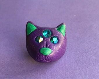 3 Eyed Cat Pin