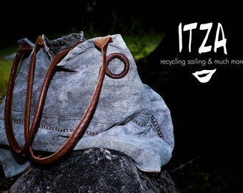 Itza bag made with old  sail collection 2015/16