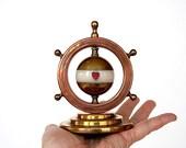 Playing Card Suit Marker - Vintage Whist Marker - Bridge Marker Trump Marker Indicator - Copper Brass Decor Ship's Wheel - Game Room Decor