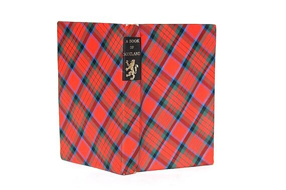 Checkered Cover Cookbook : A book of scotland vintage plaid fabric cover