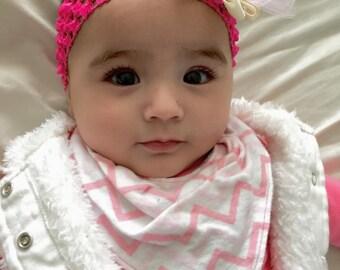 CHEVRON Toddler Bandana Bib Rocker Baby Bandana Bib  Bibdana