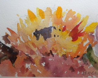 Sunflower Ablaze I B589