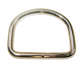 """2-1/2"""" D-Ring Welded 7mm Nickel Plated - 6 Pack"""